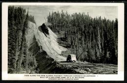 Ref 1306 - Real Photo Postcard - Car On New Alaska Highway Canada Built By U.S.A. Soldiers - Yukon