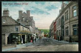 Ref 1306 - Early Postcard - Shops Dale Street - Matlock Bridge - Peak District Derbyshire - Derbyshire