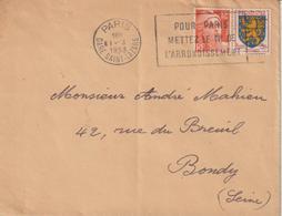 France Oblitération Sécap Paris Gare St Lazare 1953 - Poststempel (Briefe)