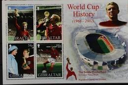 Gibraltar 2002 Yvertnr Bloc 50 ** MNH  Cote 10,00 Euro Sport Football Voetbal Soccer - Gibraltar