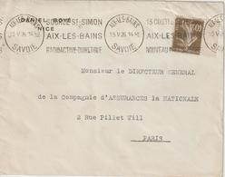 France Oblitération Krag Aix Les Bains 1926 - 1921-1960: Periodo Moderno