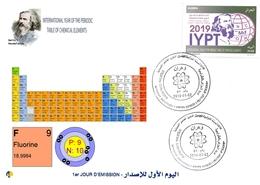 DZ Algeria 1836 2019 Anno Internazionale Della Tavola Periodica Degli Elementi Chimici Dmitry Mendeleev Chimica Fluoro - Chimica