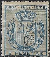 1878 Telegraph Stamps - Arms - 2p Blue MH - Télégraphe