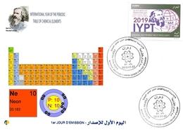 DZ Algeria 1836 2019 Anno Internazionale Della Tavola Periodica Degli Elementi Chimici Dmitry Mendeleev Chimica Neon - Chimica