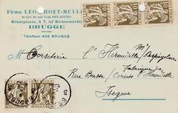 Brugge, Kraneplaats, Leon Hoet-Mullie,1933, Izegem - Entiers Postaux