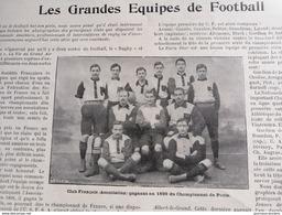 1900 LES GRANDES ÉQUIPES DE FOOTBALL - PARIS STAR - NATIONALE DE SAINT MANDÉ - CLUB FRANÇAIS - ETC... - Livres, BD, Revues