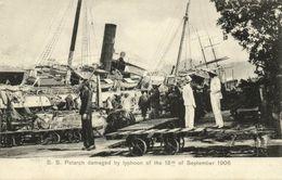 China, HONG KONG, Kowloon, S.S. Petarch Damaged, Typhoon (1906) Postcard - China (Hong Kong)