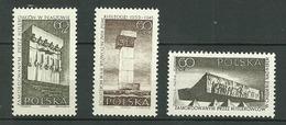 POLAND MNH ** 1492-1494 Lutte Et Martyre Du Peuple Monument De Gory Swietokryskie Piaszow Chelin Sur Ner - 1944-.... République