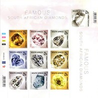 South Africa - 2019 Famous Diamonds Sheet (**) - Minéraux