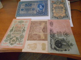 RUSSLAND   WAR  TIME  2  NOTES  LOT - Russia