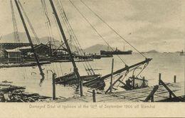 China, HONG KONG, Damaged Boat Off Wanchai, Typhoon (1906) Postcard - China (Hong Kong)