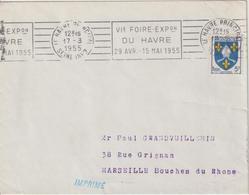 France Oblitération RBV Le Havre Principal 1955 - 1921-1960: Modern Period