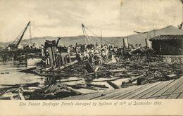 China, HONG KONG, The French Destroyer Fronde, Typhoon (1906) Postcard - China (Hong Kong)