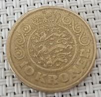 Denmark 10 Kroner  VF  1990 - Denmark