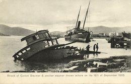 China, HONG KONG, Wreck Of Canton Steamer, Typhoon (1906) Postcard - China (Hong Kong)