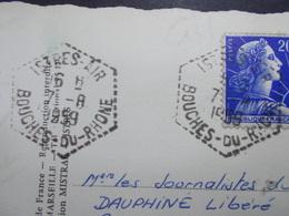 Marcophilie  Cachet Lettre Obliteration -  ISTRES AIR - 1959 (2442) - Marcophilie (Lettres)