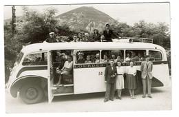 Carte - Photo Autocar - Autobus Excursion Lourdes Gavarnie - 1947 - 2 Scans - Buses & Coaches
