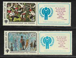 RUSSIE  ( EURU7 - 466 )   1979  N° YVERT ET TELLIER  N° 4624/4625    N** - 1923-1991 URSS