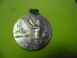 MEDAILLE De BECKER PATRIE GUERRE 1914 1915 La République Décernant Des Lauriers - 1914-18