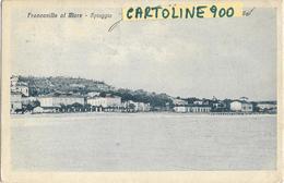 Abruzzo-chieti Francavilla Al Mare Spiaggia Veduta Da Mare Spiaggia Francavilla A Mare Anni 20 (f./piccolo/v.retro) - Italie