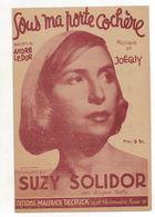 """Suzy Solidor """"Sous Ma Porte Cochère"""" -1943 - Spartiti"""