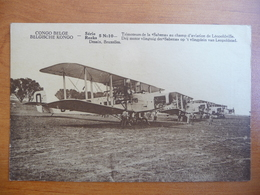 CPA - Congo Belge - Trimoteurs De La Sabena Au Champ D'aviation De Léopoldville - Série 5 - N°10 - Congo Belge - Autres
