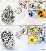 South Africa - 2019 Famous Diamonds FDC Set - Minéraux