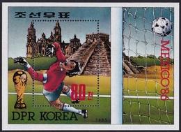 1985Korea, North2704/B2081986 World Championship On Football Of Mexico - Fußball-Weltmeisterschaft