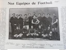 1900 RUGBY - SPORT ATHLÉTIQUE BORDELAIS - STADE FRANÇAIS - LONDON TEAM - GATFORD BRIDGE ETC... - 1900 - 1949