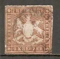 WURTEM - Yv. N° 34 MI. N° 33  Percé En Ligne  (o)  9k  Brun-jaune  Cote 65 Euro BE R  2 Scans - Wuerttemberg