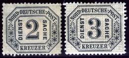 North German Confederation. Sc #O7-O8. Officials. Unused. (*) - North German Conf.