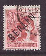 Berlin 11 V Plattenfehler Gestempelt Schwarzaufdruck Abart Geprüft (21856) - [5] Berlin