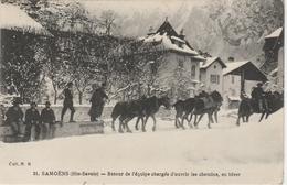 Haute Savoie . Samoëns  . Retour De L' équipe Chargée D' Ouvrir Les Chemins , En Hiver . - Samoëns