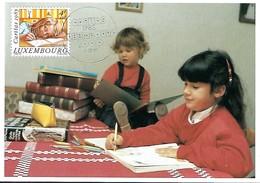 """5.12.1985  -  La Photo Prise Par Tony Krier Représente  """"APPLICATION"""" - Edit.Tony Krier,Luxembourg  Timbre Caritas - Tarjetas Máxima"""