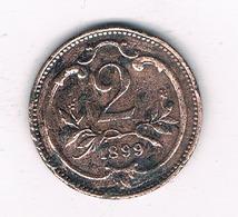 2 HELLER 1899  OOSTENRIJK /4845/ - Autriche