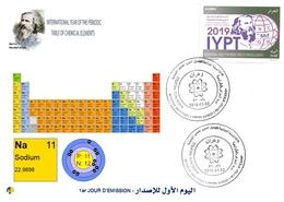 DZ Algeria 1836 2019 Anno Internazionale Della Tavola Periodica Degli Elementi Chimici Dmitry Mendeleev Chimica Sodio - Chimica