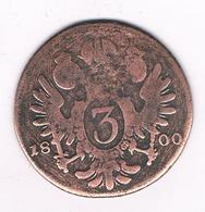 3 KREUZER 1800 D   OOSTENRIJK /4848/ - Autriche