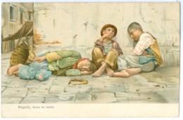 C.1900 Italy, Napoli, Dolce Far Niente. Primted Art Pc, Unused. Artist A. Esposito - Napoli