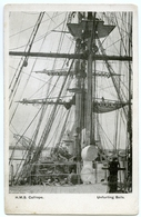 ROYAL NAVY : H.M.S. CALLIOPE - SAILING CORVETTE - UNFURLING SAILS - Sailing Vessels