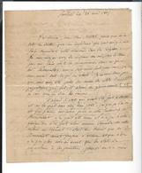 LETTRE Corr. Seule, Saalfeld 22 Mai 1807 Conseils D'un Militaire à Un Officier Pour L'admission à La Légion - Iéna - Historical Documents