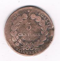 5 CENTIMES 1872 A FRANKRIJK /4850/ - France