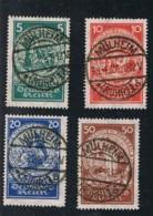 1924 1. Jan Nothilfe Mi DR 351 - 54 Sn DE B8 - 11 Yt DR 344 - 47 Sg DR 365 - 68 A  Gest. O - Deutschland