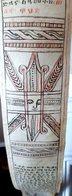 ORIENT ETHIOPIE SOMALIE  MANUSCRIT ANCIEN  EN LANGUE COPTE ILLUSTRE DE FIGURES SUR PEAU  1,70 M AUTHENTIQUE 19°/ 20° - Oriental Art