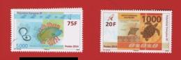 Polynésie 2014 °°  1048 1049 1050 1051 Billets (4 Timbres) (WP10) - Polynésie Française