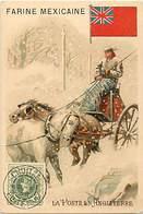 - Chromos-ref-chA16- Barlerin - Tarare - Rhône - Farine Mexicaine / La Poste En Angleterre - Royaume Uni - U.k - - Chromos