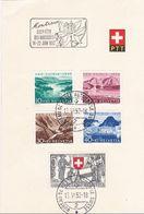 Schweiz Suisse PP 1952: Zu WII 56-60 Mi 570-574 Yv 521-5 PTT-Folder 15.VI.52  Montreux FÊTE DES NARCISSES (Zu CHF 24.00) - Brieven En Documenten