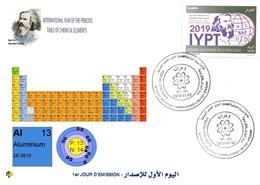 DZ Algeria 1836 2019 Anno Internazionale Della Tavola Periodica Degli Elementi Chimici Dmitry Mendeleev Chimica Allumini - Chimica
