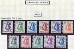 13369 NIGER Collection Vendue Par Page Service 1/11* Et Taxe 22/30 *   1962  TB - Níger (1960-...)