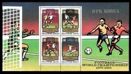 1980Korea, North2033-36/B781982 World Championship On Football Of Spain20,00 € - Coupe Du Monde