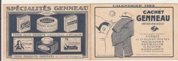"Calendrier Publicitaire 1923 ""cachet Geneau"" - Klein Formaat: 1921-40"